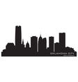 Oklahoma City skyline Detailed silhouette vector image vector image