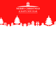fir gift banner red vector image vector image