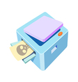 icon copy machine vector image