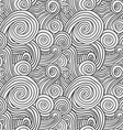 Black and White Curly Waves vector image