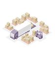 Warehouse distribution center vector image