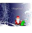 0211Chrismas greeting card vector image vector image