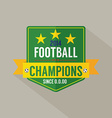 Soccer or Football Champions Badge vector image vector image