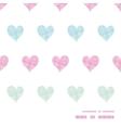 Colorful polka dot textile hearts horizontal frame vector image vector image