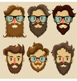 Hipster characters subculture retro hairstyle vector image