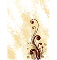 brown floral art vector image vector image