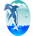 dolphin jumping vector image vector image