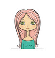 beautiful girl redhead princess vector image