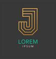 j letter logo icon vector image