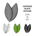 laurus icon in cartoon style isolated on white vector image