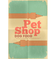 pet shop poster tax vector image