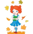 School girl red hair vector image