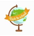 School globe back to school vector image