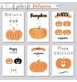 set with pumpkins for Halloween vector image