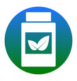 supplements container sign white icon in vector image