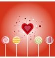 Valentine card - seamless pattern vector image