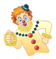 Cartoon funny clown image eps10 vector image vector image