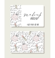 Business card for makeup artist with pattern words vector image