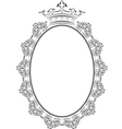 frame oval vector image