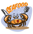 cute crab mascot vector image