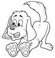 dog barks vector image vector image