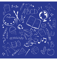 school abstract background vector image vector image