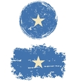 Somalia round and square grunge flags vector image