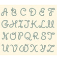Set of rope font latin letters vector image