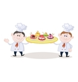 Cooks with Ice Cream vector image vector image