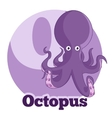 ABC Cartoon Octopus vector image