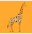 Beautiful adult Giraffe in half-face vector image