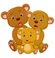 Bear family cartoon vector image