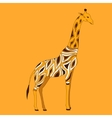 Beautiful adult Giraffe in half-face vector image