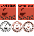 cafe banner vector image