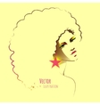 Disco girl with afro hairstyle vector image