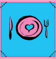 hand drawn restaurant poster vector image