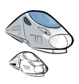 High Speed Train 2 vector image