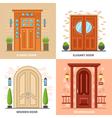 House Doors 2x2 Design Concept vector image