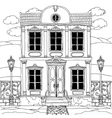 house drawing with details for adult coloring book vector image