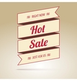 Ribbon with the inscription Hot sale vector image