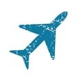 Plane grunge icon vector image vector image