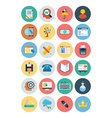 Flat SEO and Marketing Icons 5 vector image