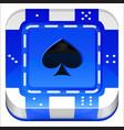 Casino Poker Chip 3d square app icon vector image vector image