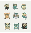 Cute hand drawn owl vector image