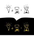 Time ideas logo vector image vector image