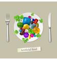 Artificial food vector image