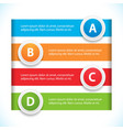 banner and button infographic vector image