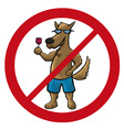 dog no cartoon vector image