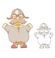 Funny Cartoon pilot vector image