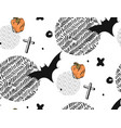 hand drawn seamless halloween abstract vector image